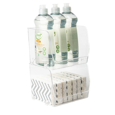 Clear Stackable Organiser Small