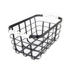Black Storage Basket with Marble Handle
