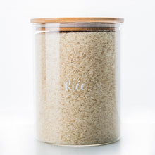Glass Storage Jar with Bamboo Lid - 3L