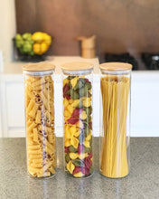 Tall Bamboo Glass Storage Jar - Little Label Co