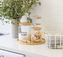 Bamboo and Glass 5 Piece Laundry Set ( back in stock mid to late August)