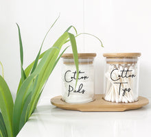 Bathroom Storage Jars with tray
