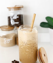 Bamboo Drinking Glass with Reusable Straw - Little Label Co
