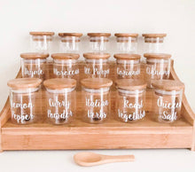 Large Bamboo Shelf with 15 x 75ml Herb & Spice Jars