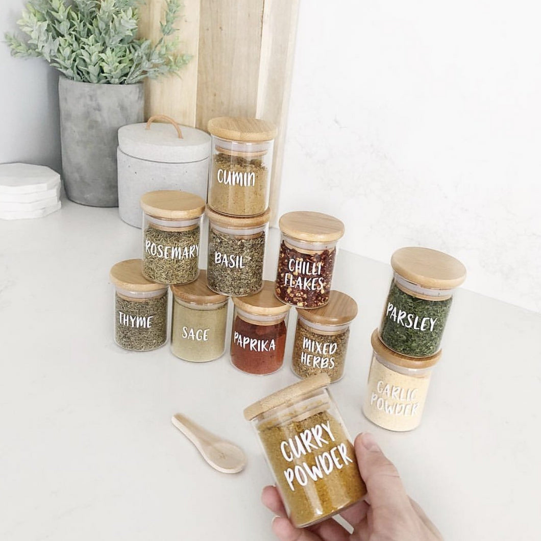 Herb & Spice Jars Small 75ml (JAR ONLY)