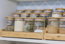 Large Bamboo Shelf with 12 x 200ml herb/spice jars
