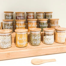 Large Bamboo Shelf with 15 x 75ml herb/spice jars