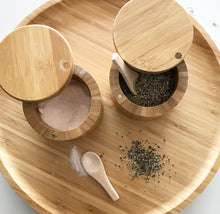 Bamboo Salt & Pepper Box - Little Label Co