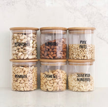 Bamboo/Glass Storage Jar 500ml