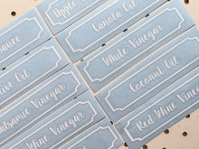 Oil & Vinegar Labels (with border) - Little Label Co