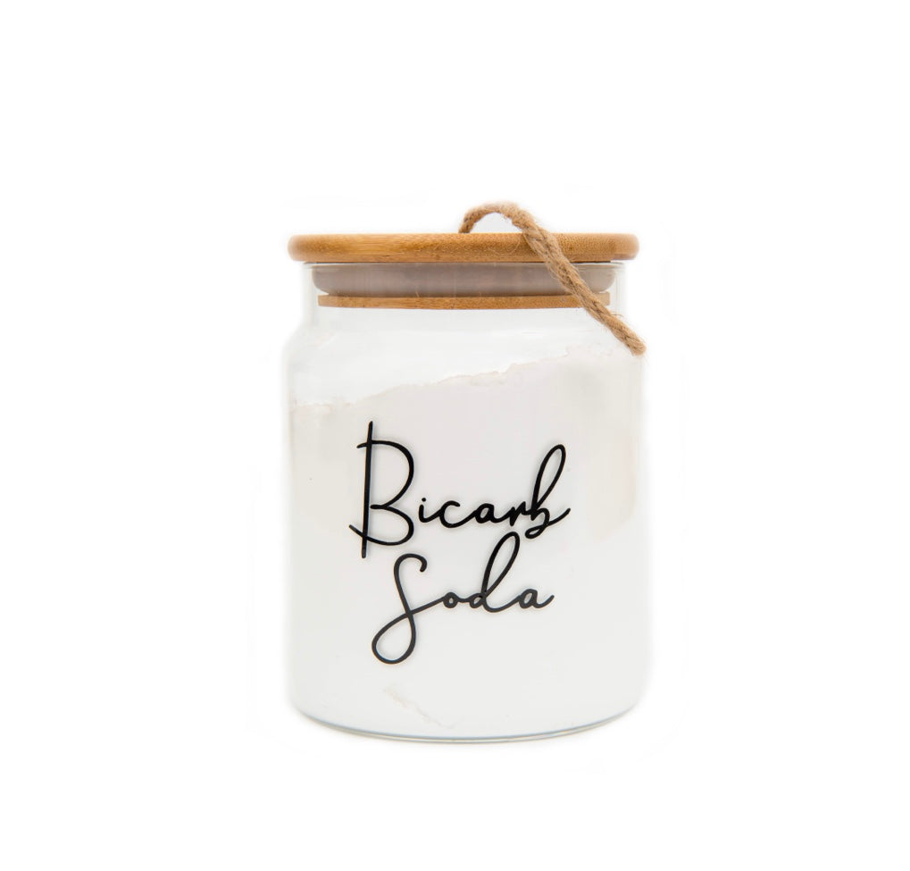 Glass Jar with Bamboo and Twine Lid - 1L