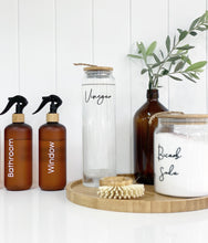 PRE-ORDER (4-8 weeks dispatch) Bamboo Glass Bottle for liquid- 1L