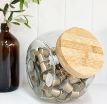 Bamboo Glass Snack Jar (Back in stock late February)