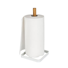 Wire & Bamboo Paper Towel Holder