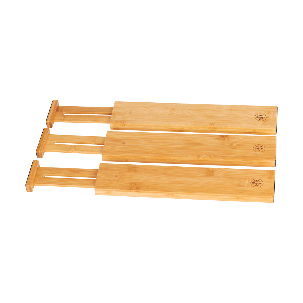 Bamboo Expandable Drawer Dividers - Little Label Co