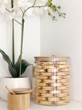 Glass Jar with Bamboo/Twine 4L