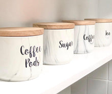 Coffee Tea Sugar labels (3 pack)