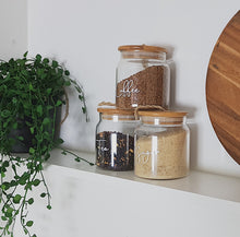 Glass Jar with Bamboo and Twine Lid - 500ml