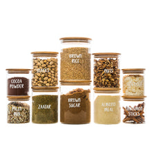 RESTOCK LATE SEP - Bamboo Glass Jars Small Pack