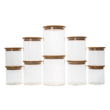 Bamboo Glass Jars Small Pack