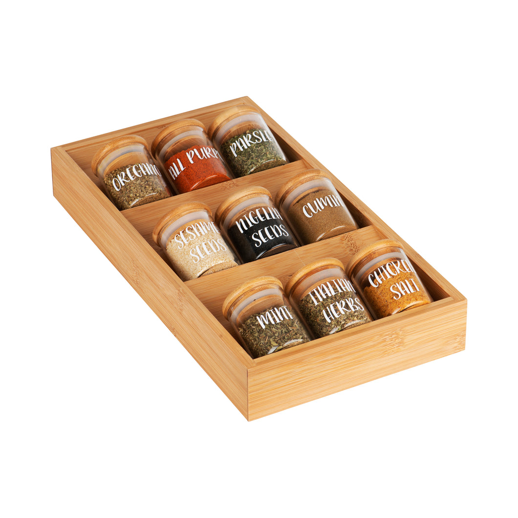 Bamboo Herb & Spice Drawer Organiser - Little Label Co
