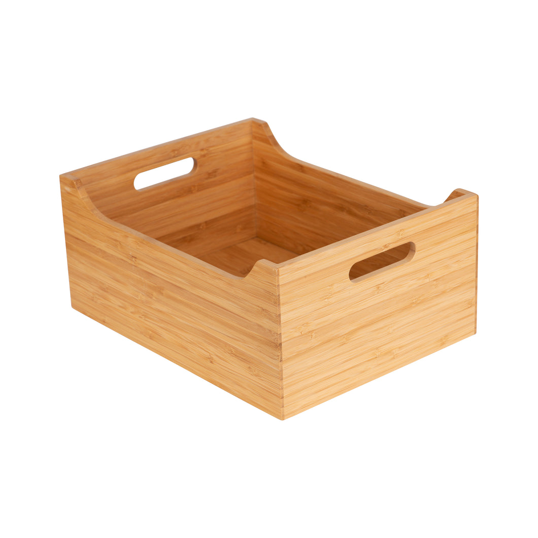 Large Bamboo Storage Tub - Little Label Co