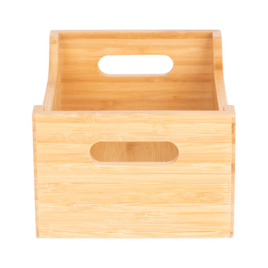 Small Bamboo Storage Tub - Little Label Co