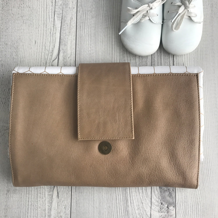 Light Brown Nappy Clutch
