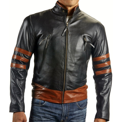X-Men Wolverine Motorcycle Leather Jacket