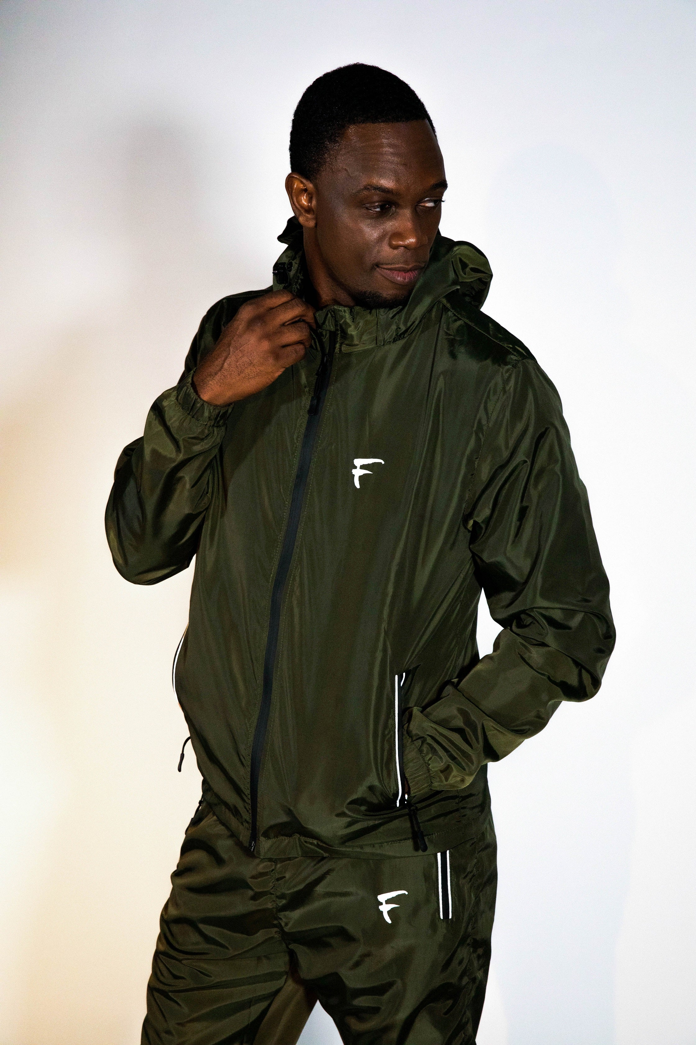 Men / Women Aero Reflective Activewear Streetwear Jogger Windbreaker Track Suit Jacket Pants