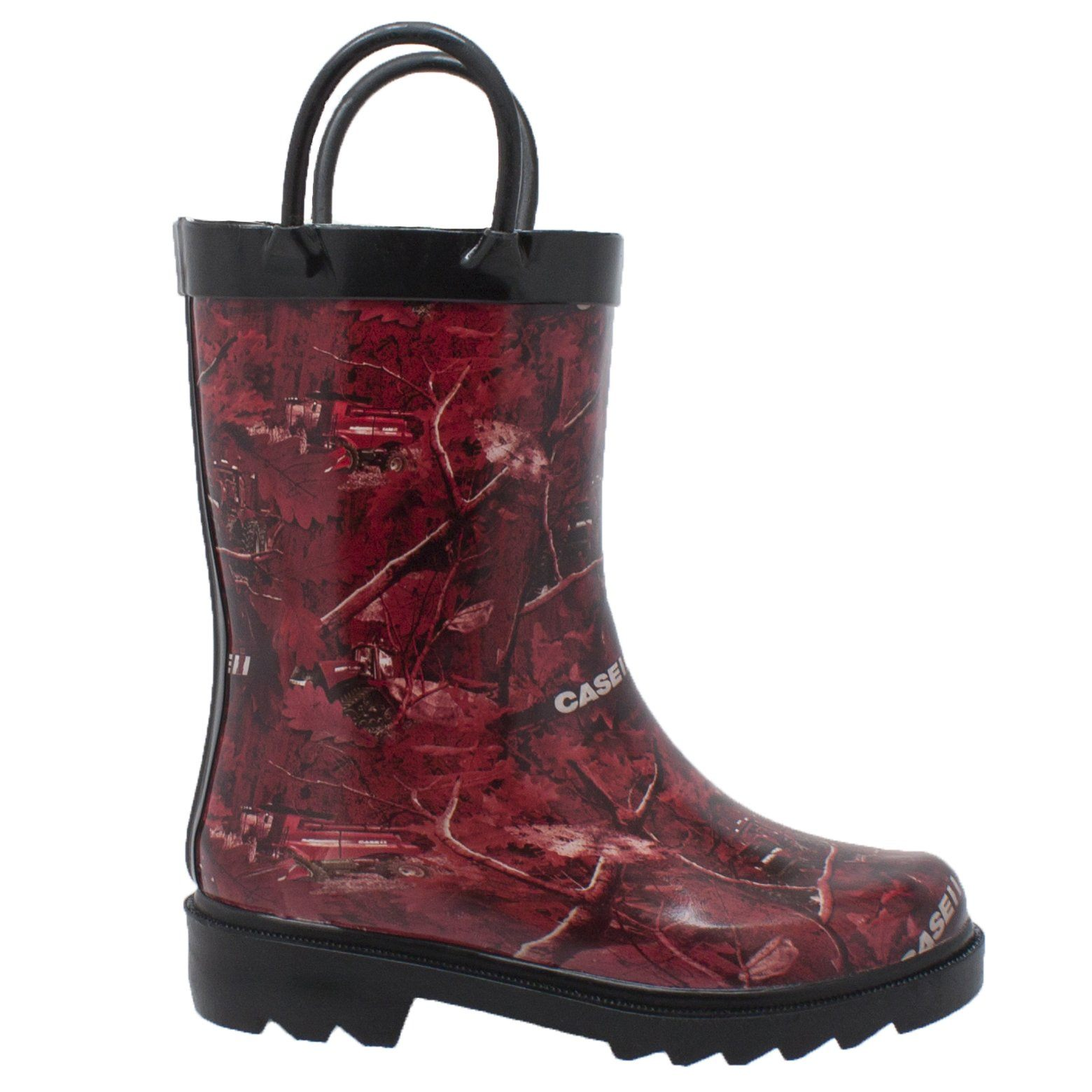 Children's Boots - Children's Red Camo Rubber Boots