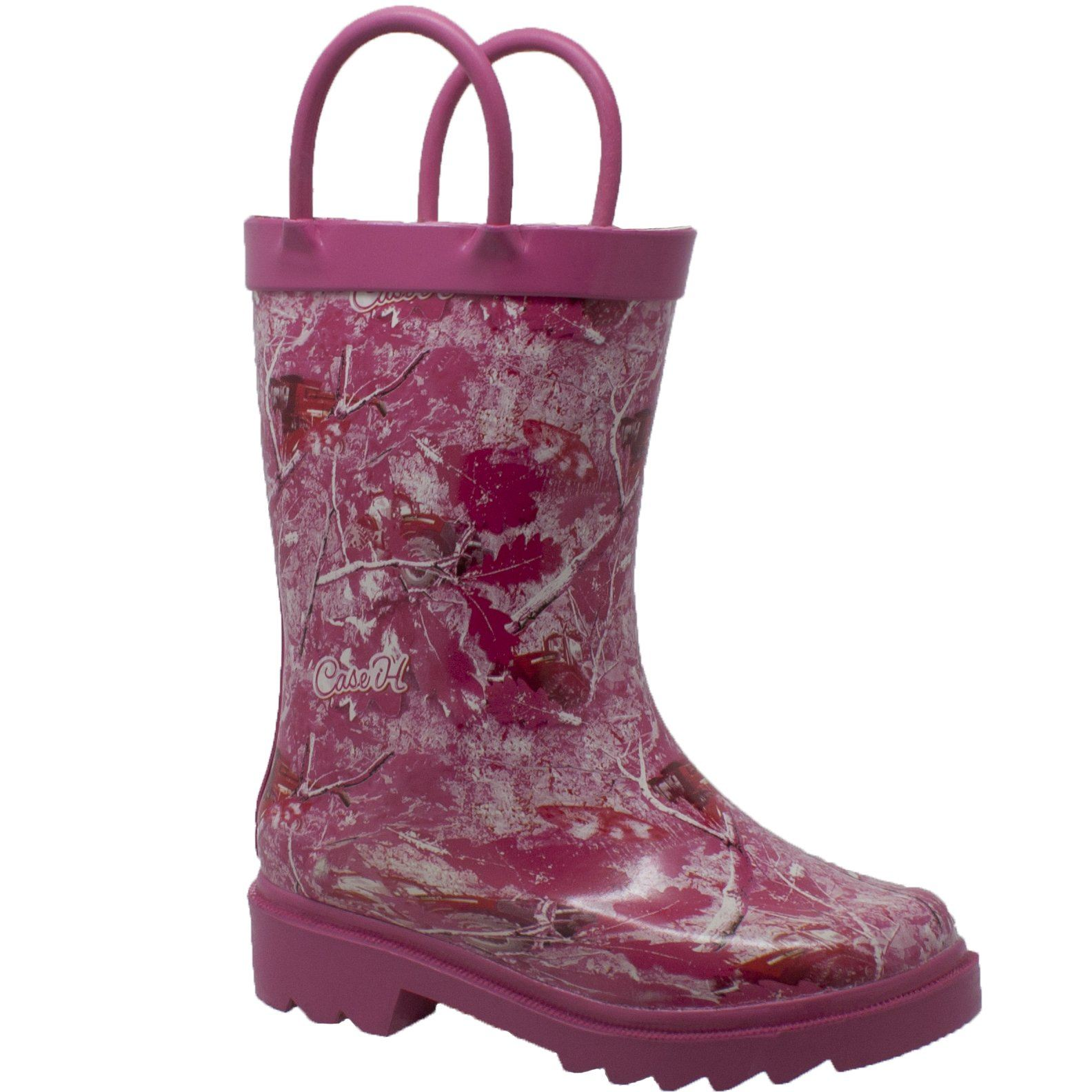 Children's Boots - Toddler's Pink Camo Rubber Boots