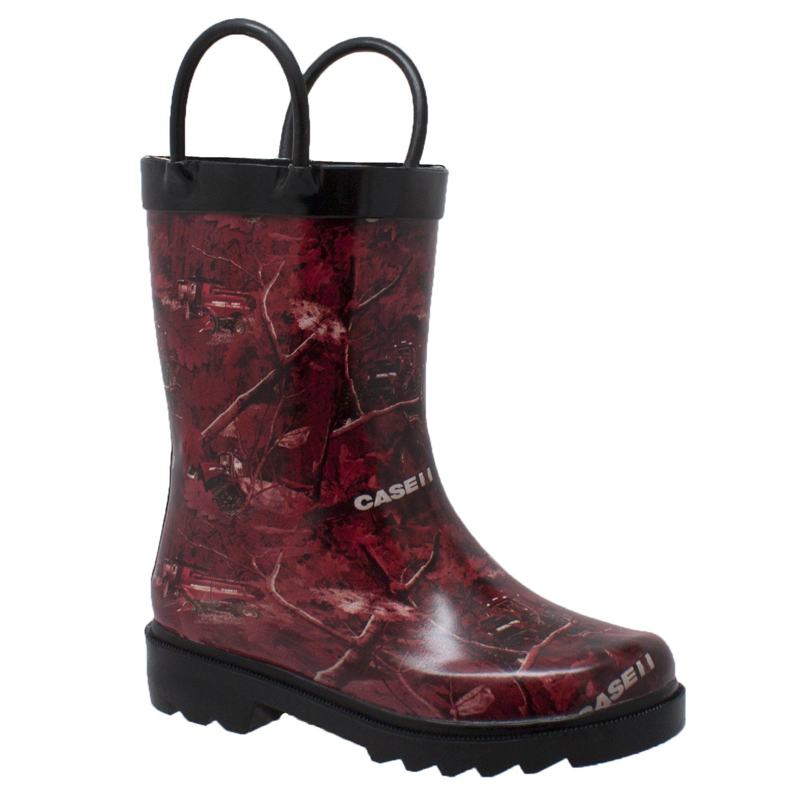 Children's Boots - Toddler's Red Camo Rubber Boots