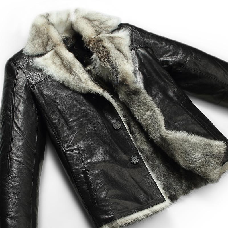 Leather Coat - Men's Top Quality Faux Fur Leather Premium Coat