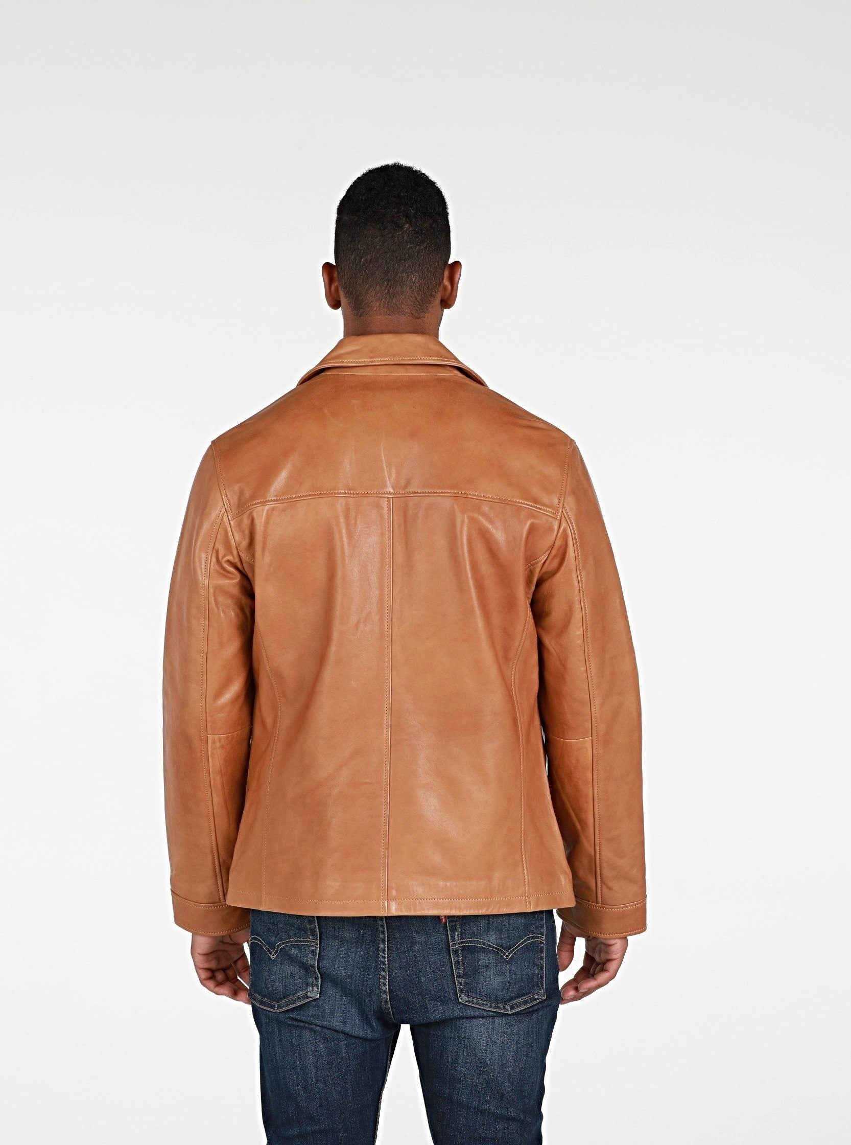 Leather Jacket - Abbyse Mens Leather Jacket Lambskin - New!