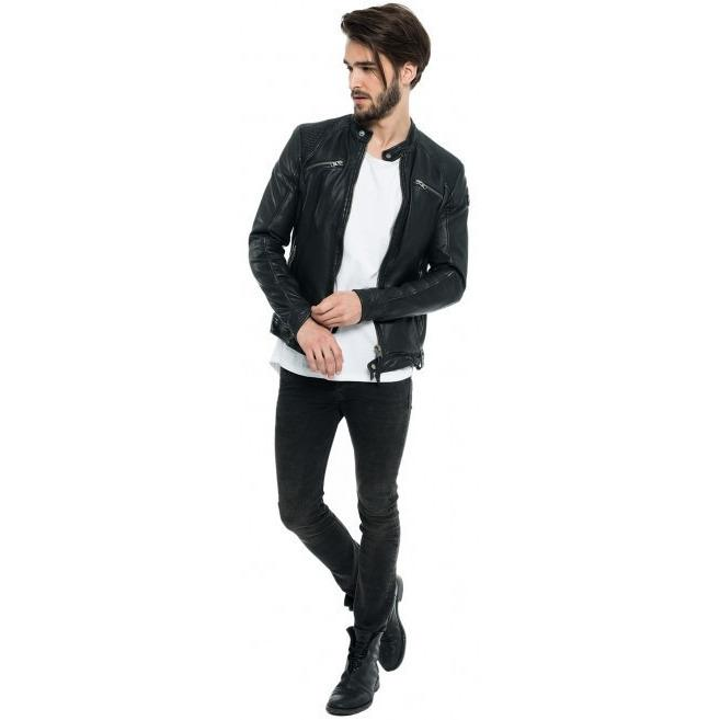 Leather Jacket - Casper Mens Leather Jacket