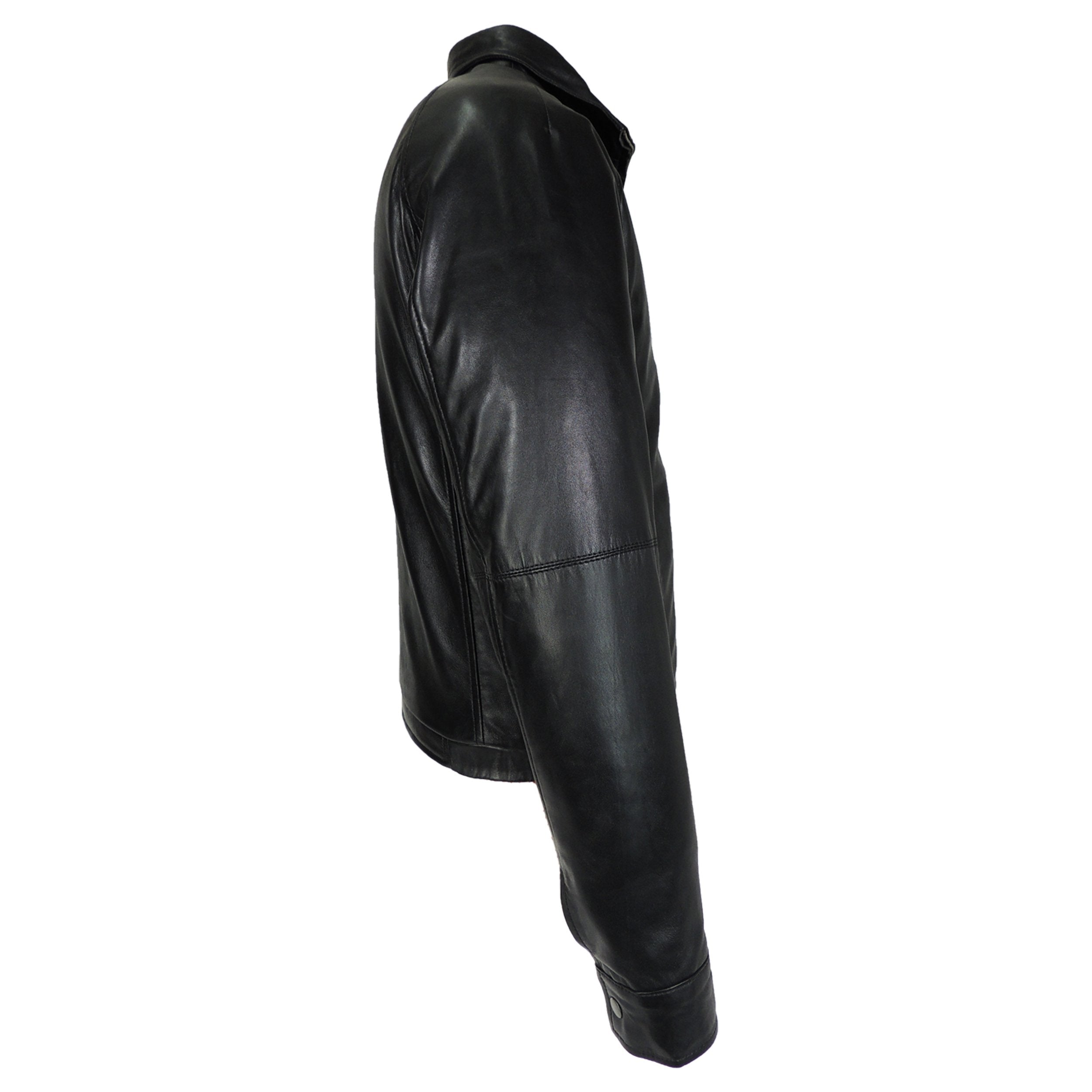 Dali Mens Leather Jacket with filler lining - fadcloset