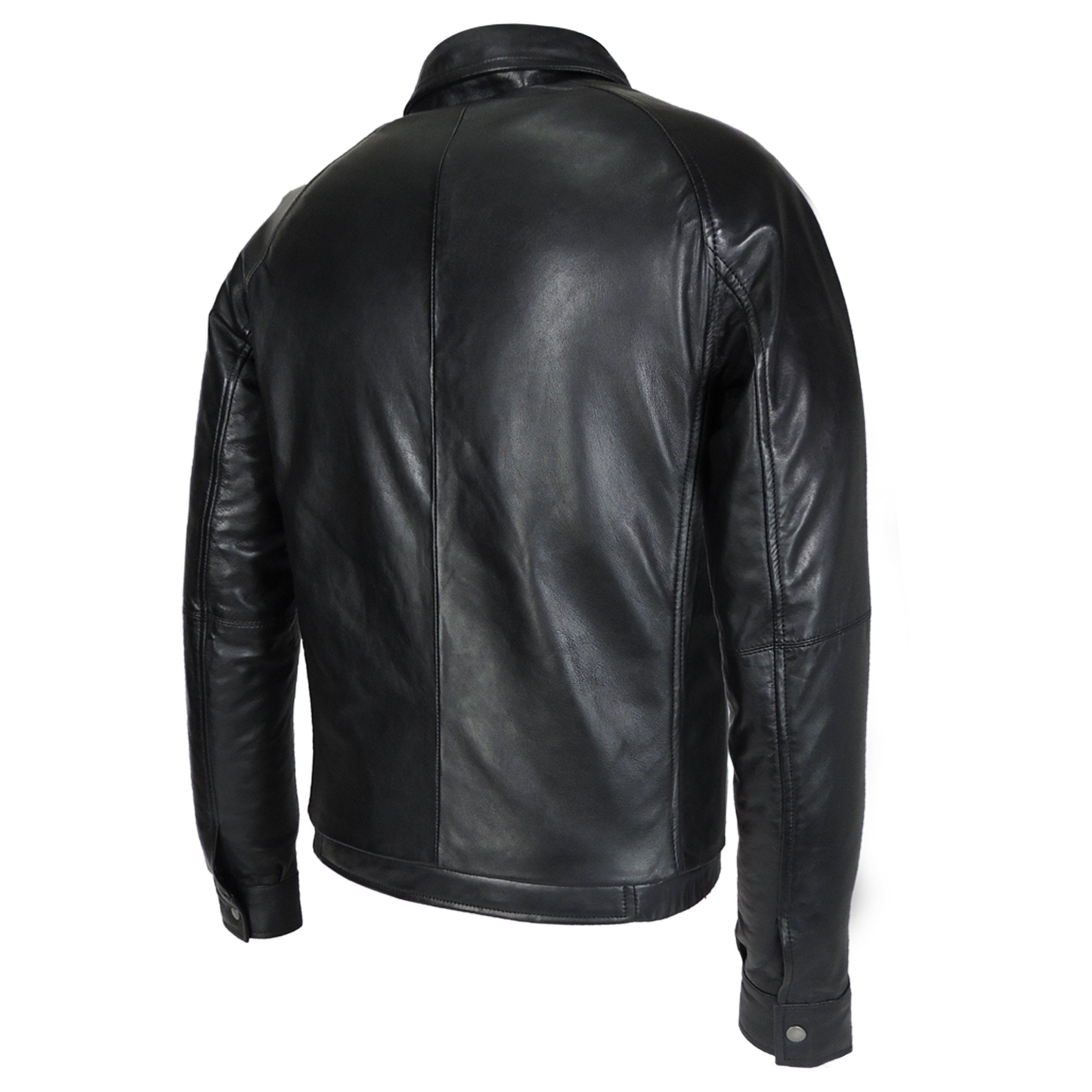 Leather Jacket - Dali Mens Leather Jacket With Filler Lining