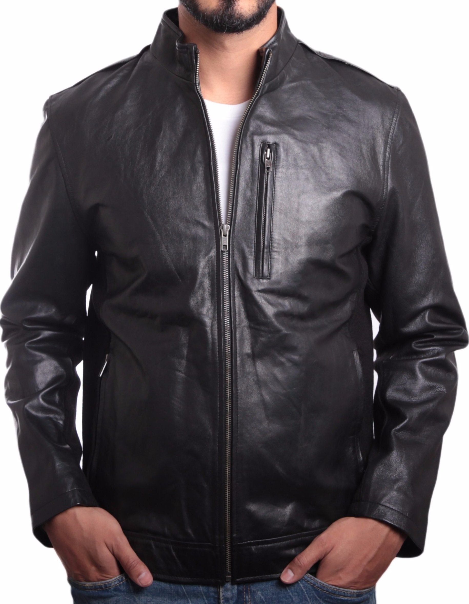 Leather Jacket - Johnny Mens Leather Jacket