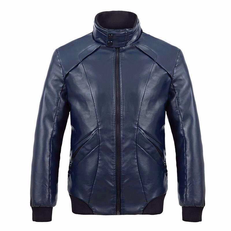 Mens Calypso Bomber Leather Jacket, [option2] - Fadcloset