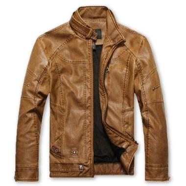 Swift Mens Leather Jacket, Tan - Fadcloset