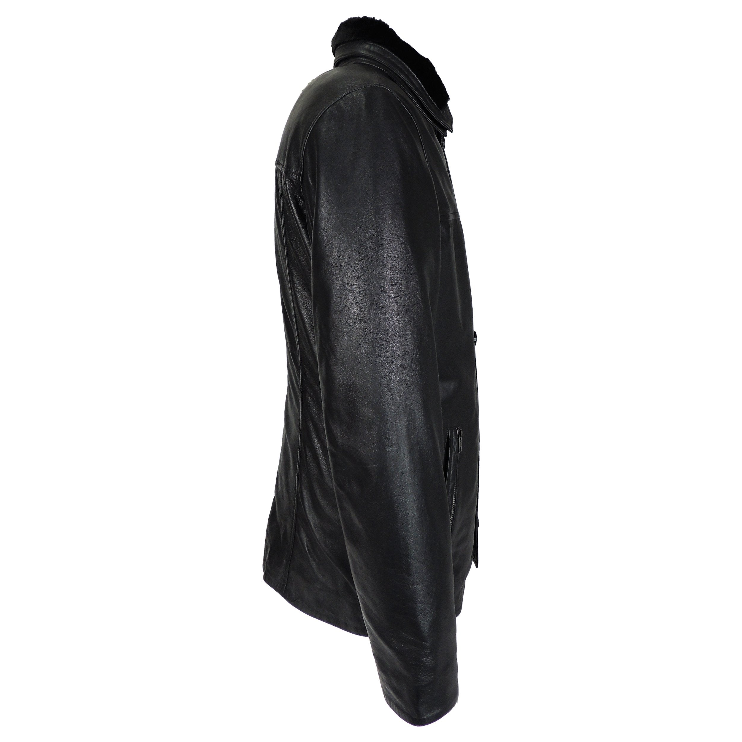 Mens Leather Blazer - Ahsa Mens Leather Coat - Discounted!