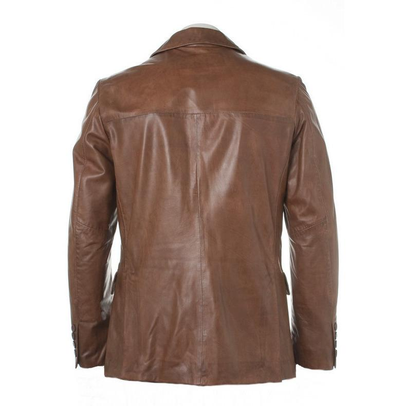 Mens Leather Blazer - Bixby Mens Leather Blazer