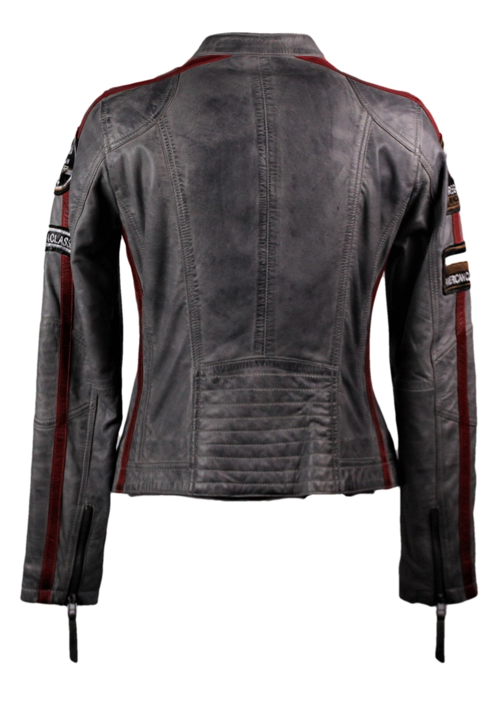 Women's Moto GP Racing Gray Jacket - One Left