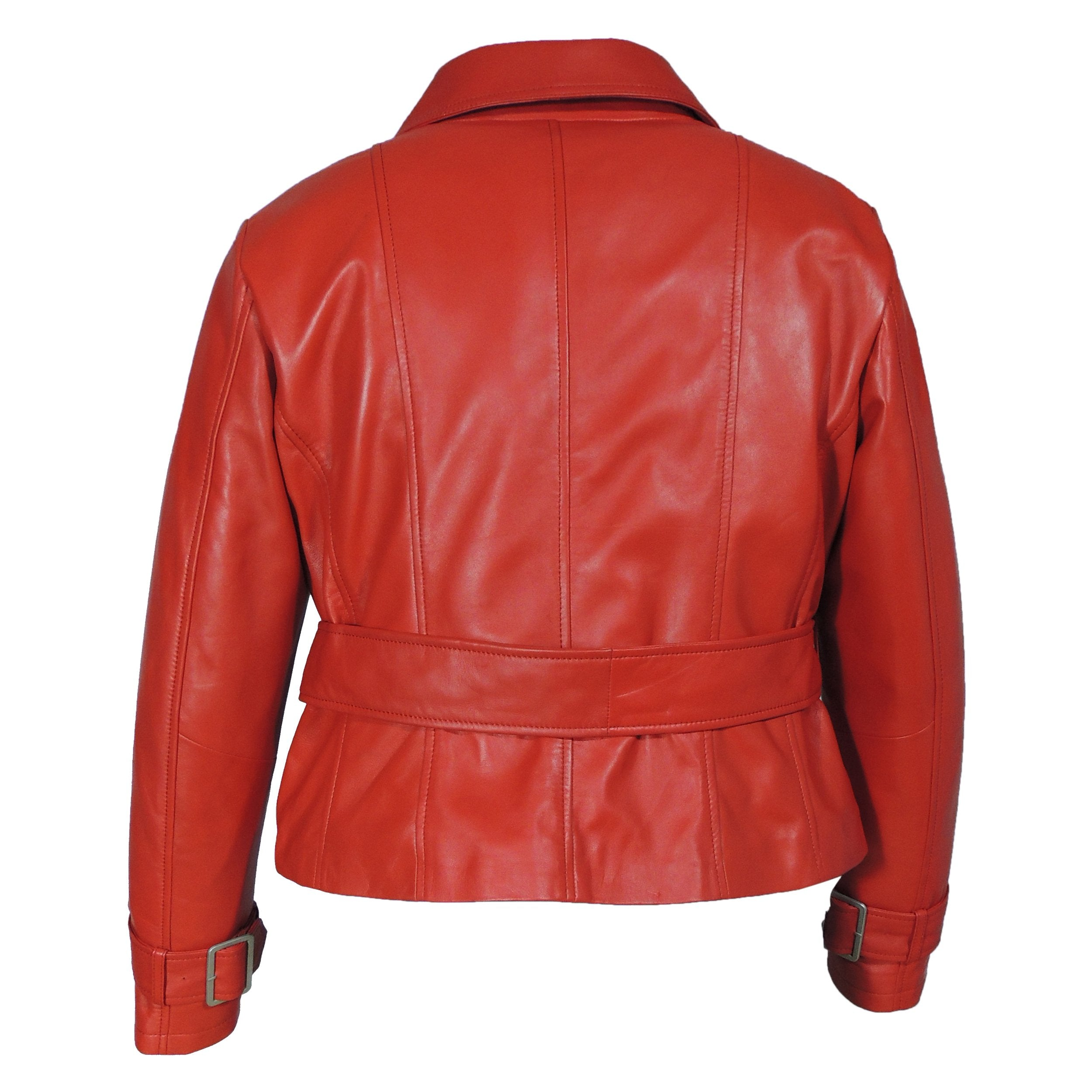 Womens Leather Blazer - Womens Red Leather Blazer - Very Exotic