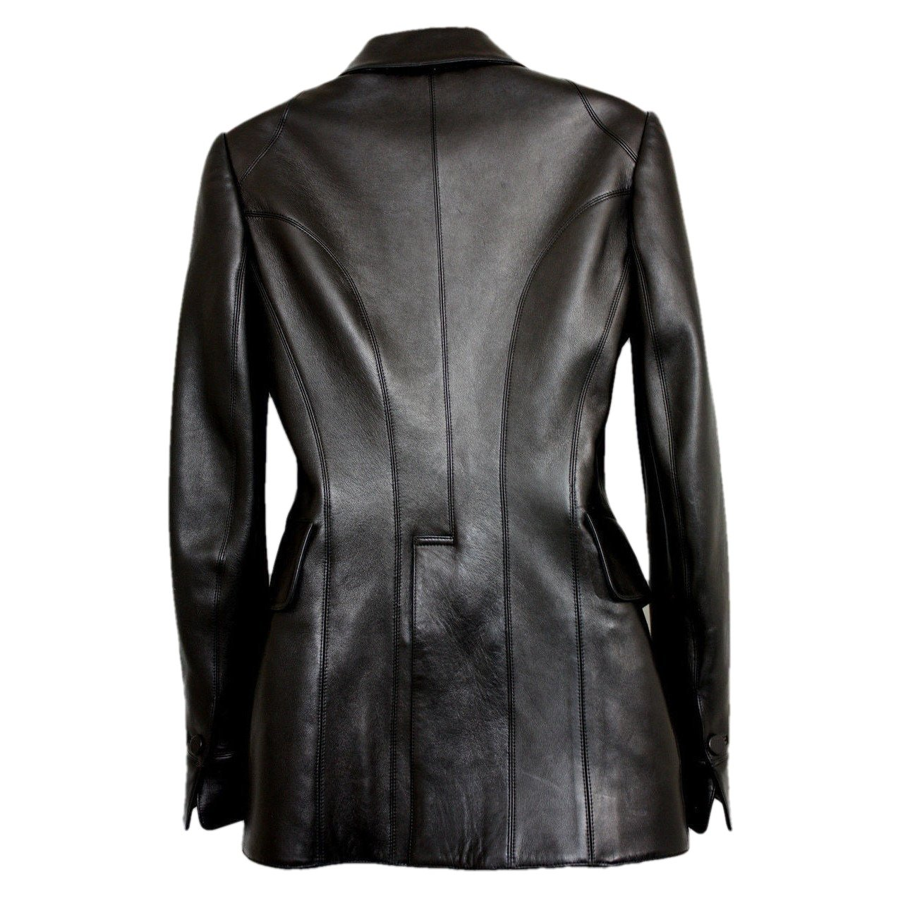 Womens Leather Coat - Womens Victoria Leather Coat