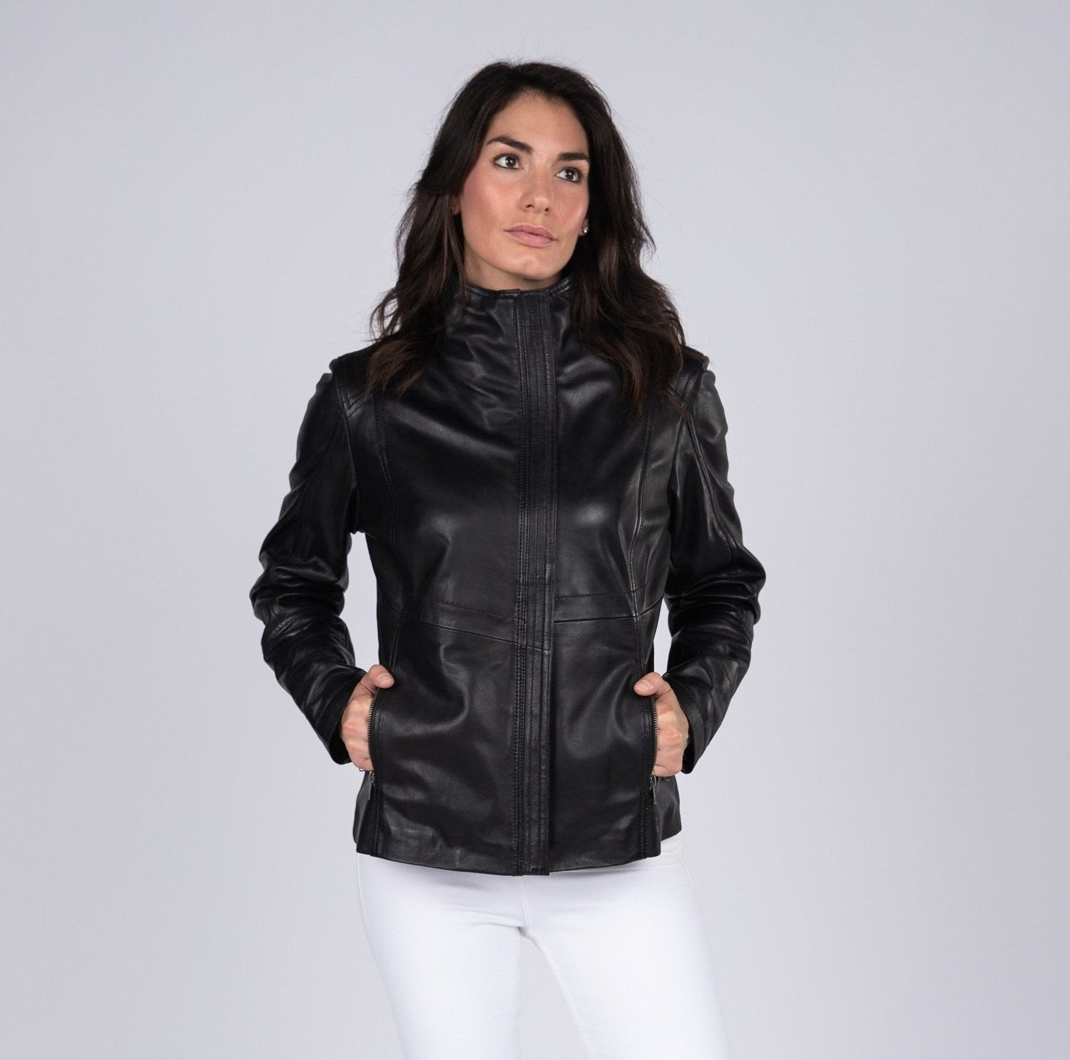 Arra Womens Leather Jacket - Discounted! - Fadcloset