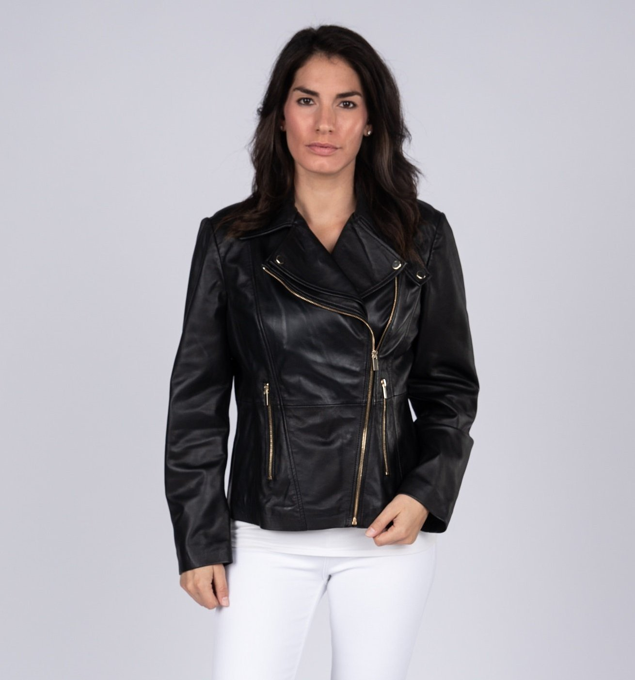d5a96ad4c Charlotte Womens Leather Jacket - Discounted! Womens Leather Jacket ...