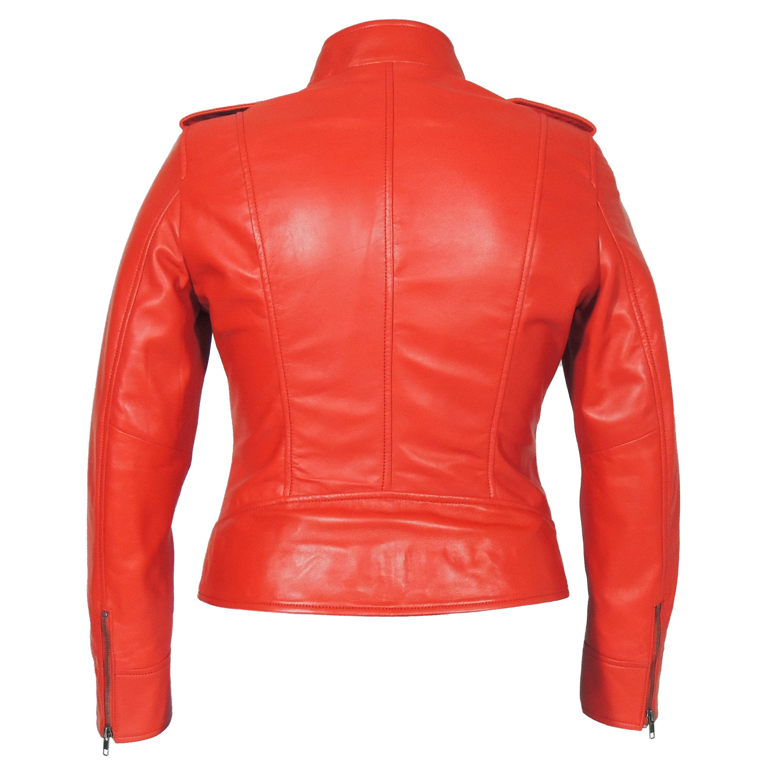 Faya Womens Leather Jacket Midnight - Discounted! - fadcloset