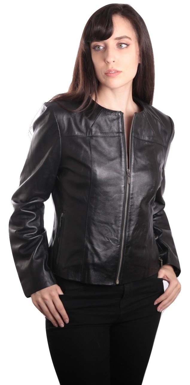 Womens Leather Jacket - Ladies Samantha Leather Jacket
